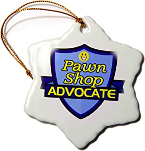 3dRose Pawn Shop Advocate Support Design - Ornaments (ORN_242747_1)