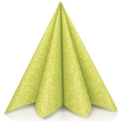 GRUBly Servilletas Verde de Papel gofrado Fino Ornamental ...