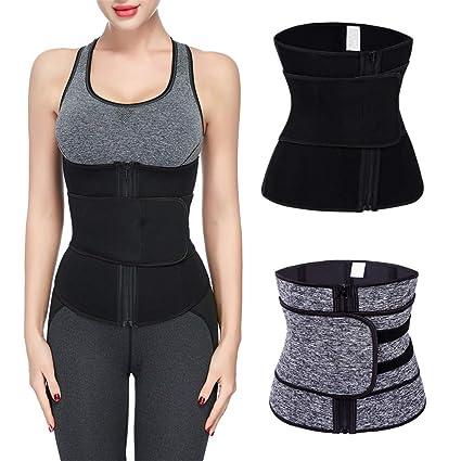 7cea8f3a34b Nacome Women Waist Trainer Belt Waist Cincher Trimmer - Slimming Body  Shaper Belt - Sport Girdle