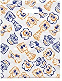Practicon 1109672 Scatter Print Dental Friends Bags, 8'' x 10'' (Pack of 100)