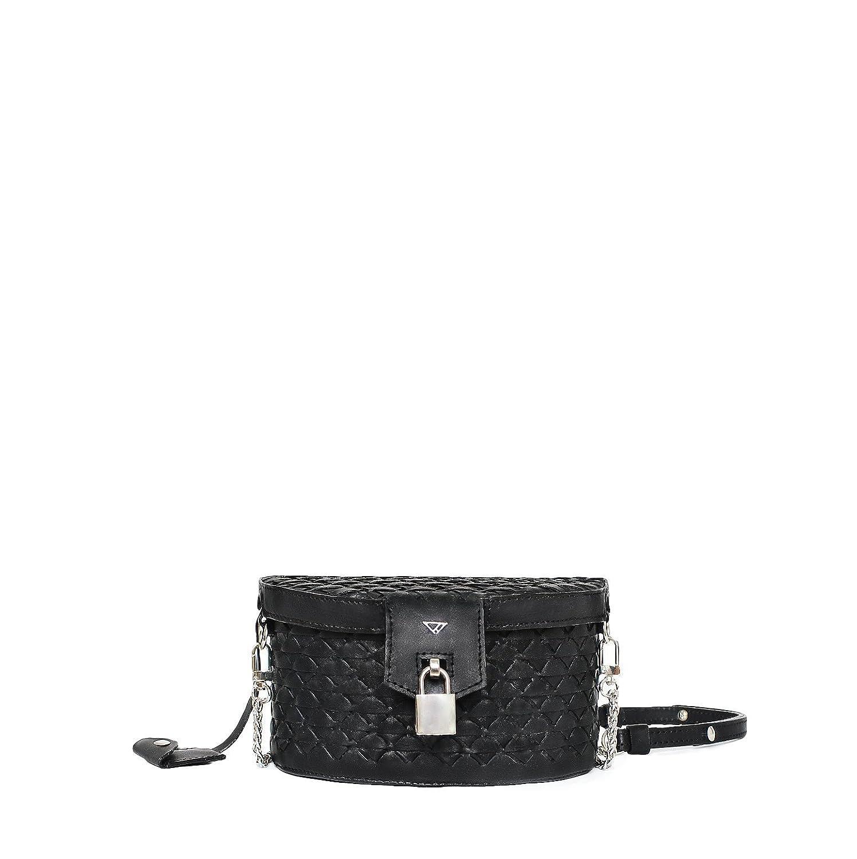 9357c3e354cd4 Amazon.com: Maёve small wicker black leather cross-body handbag ...