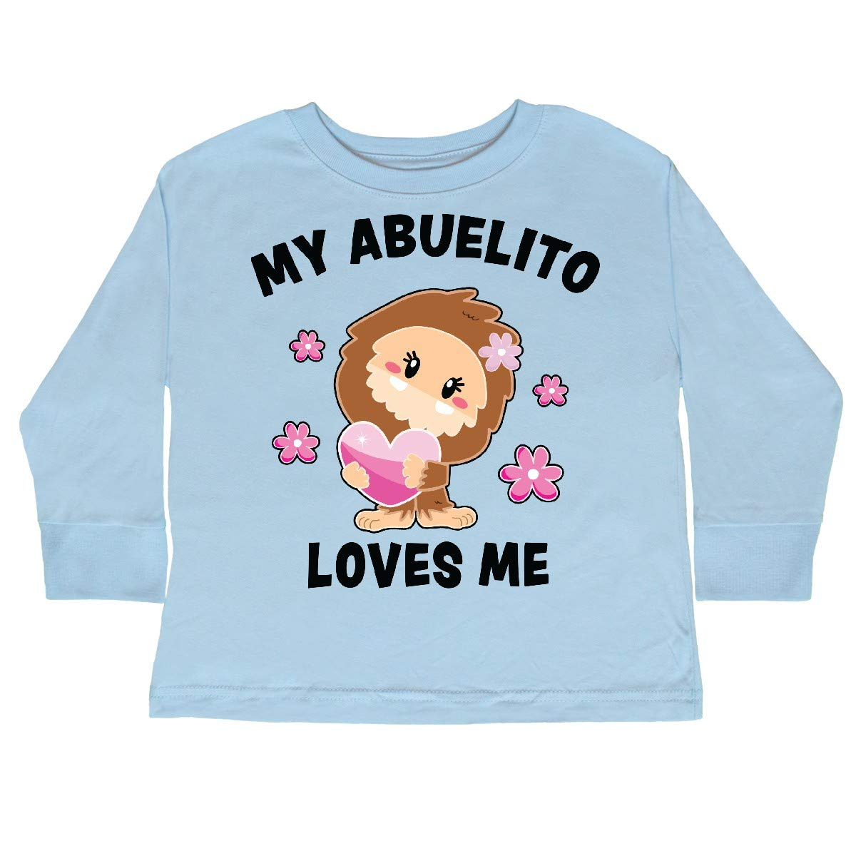 inktastic My Abuelito Loves Me with Bigfoot Toddler Long Sleeve T-Shirt