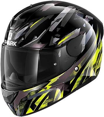 Shark Herren Nc Motorrad Helm Schwarz Gelb L Auto