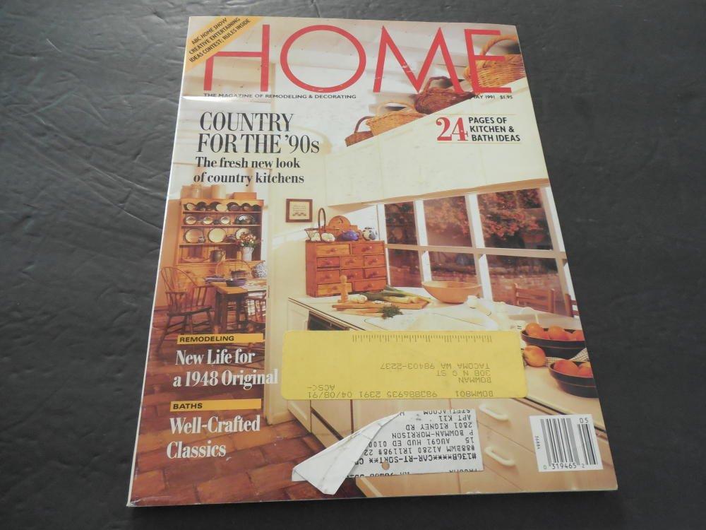 Home Magazine May 1991 Kitchen Bathrooms Country Kitchen At - Kitchen-design-shows-exterior