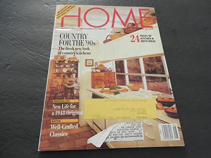 Home Magazine May 1991 Kitchen Bathrooms Country Kitchen At