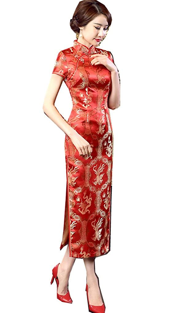 Chinese Wedding Dress.Shanghai Story Long Chinese Wedding Dress Qipao Cheongsam Party Dress Gown