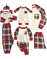 PopReal Toddler Plaid Family Matching Clothes...
