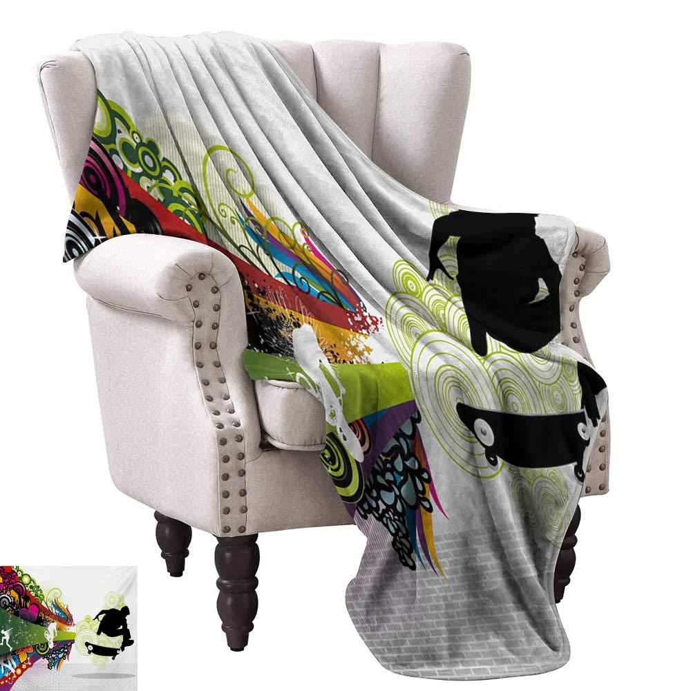 Amazon.com: Custom Design Cozy Flannel Blanket,Vivid Young ...