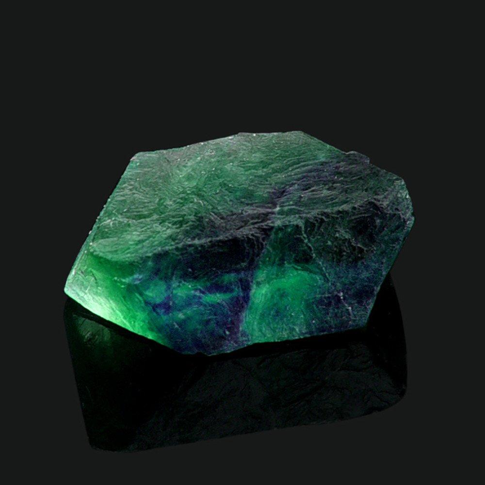 Ecurson Clearance Natural Irregular Crystal Quartz Healing Fluorite Wand Stone Purple Green Gem