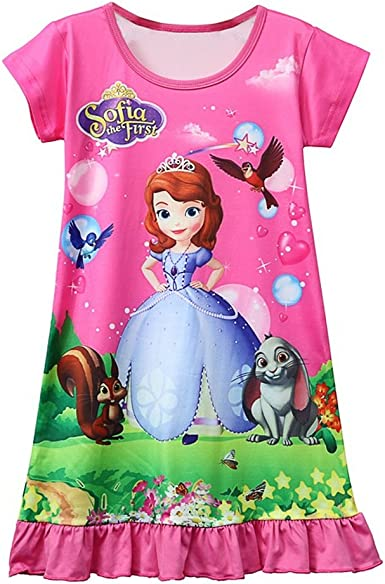 Moebao Snow Queen Toddler Night Gown for Little Girls Pajamas Dress