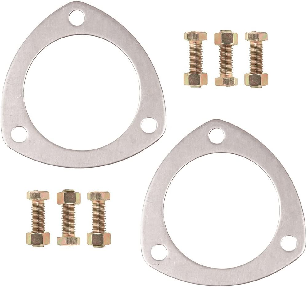 """Proform Collector Gaskets Aluminum 3-Hole 2.5/"""" Inside Dia Includes Bolts/&Nuts"""