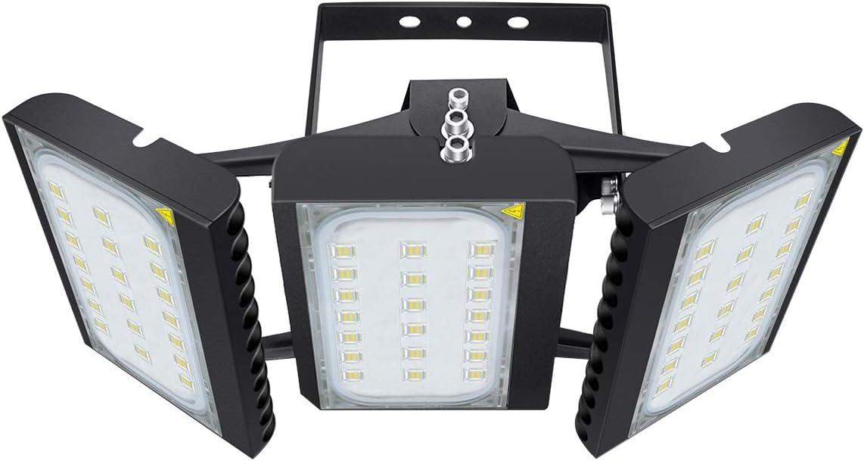 LED Outdoor Leuchte f/ür Garagen Patio 13500 LM Sicherheits-Flutlicht 150W Scheinwerfer mit verstellbarem Kopf f/ür Scheune Tageslichtwei/ß 6000K Hof
