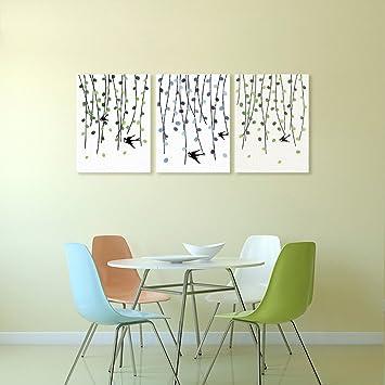 Amazon De Willow Fingerprint Dekorative Malerei Schwalbe