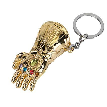 nihiug Avengers 4 cos Keychain Black Panther Thanos Keychain ...