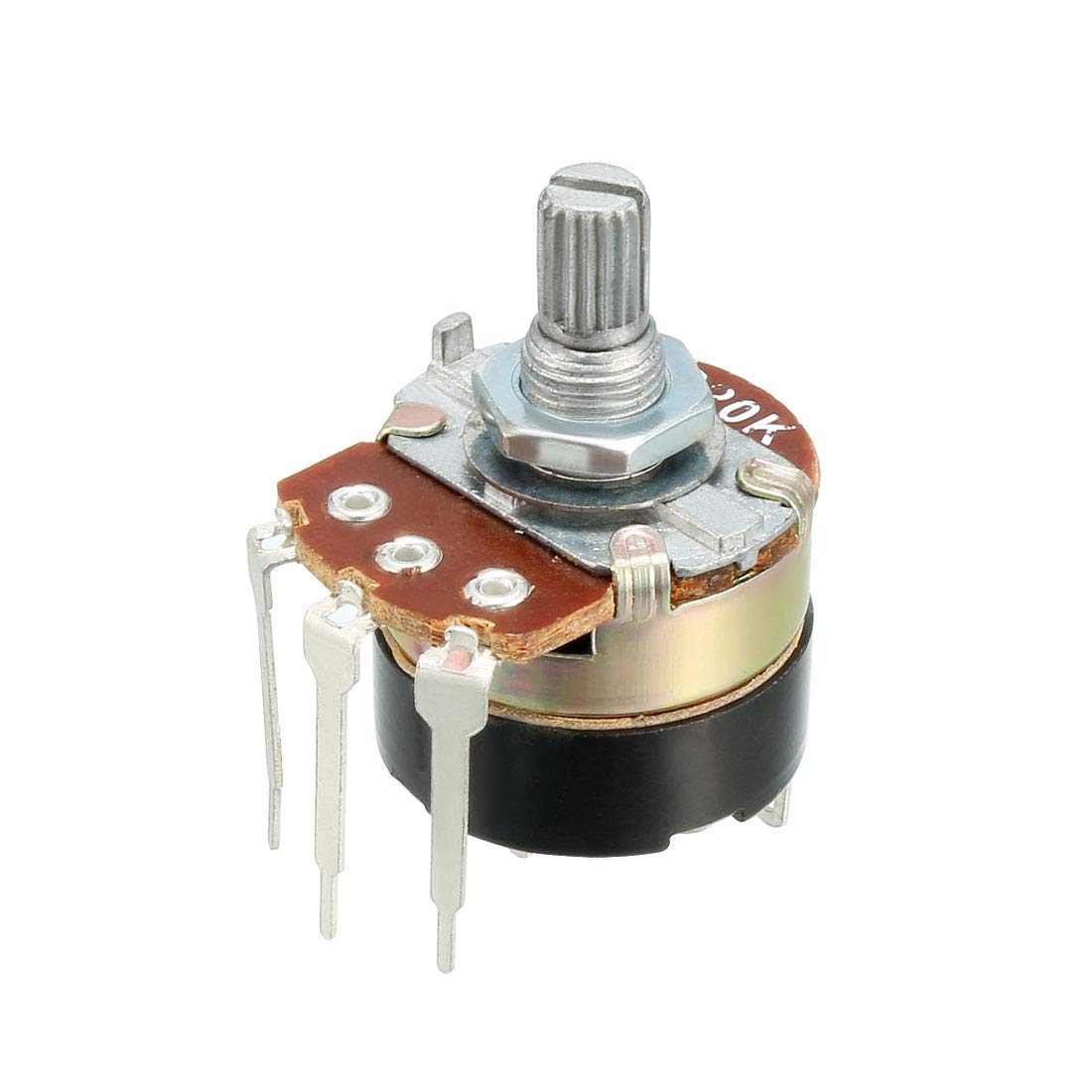 Uxcell 20k Ohm Variable Resistors Single Turn Rotary Carbon Film Potentiometer Wiring Resistor 1pcs Wh138