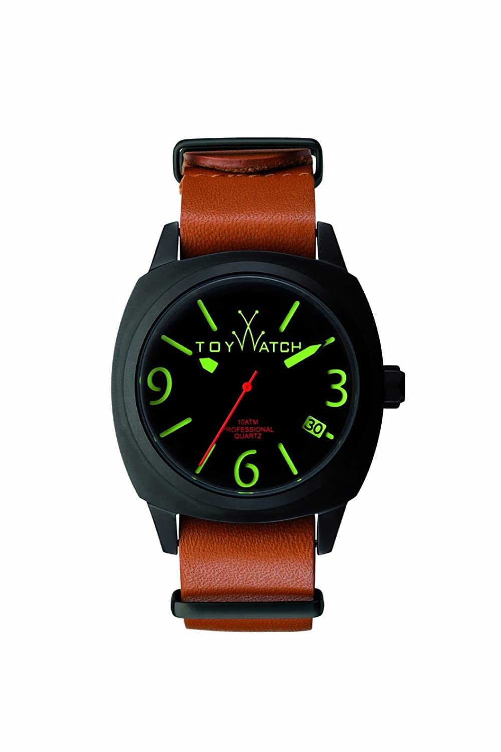 ToyWatch Herren-Armbanduhr XL Analog Quarz Leder IC02BK