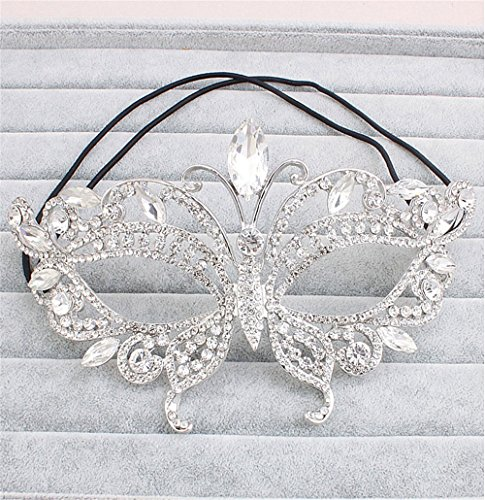 Mardi Gras Party Masquerade Mask,High-end Luxury Delicate Makeup Dance mask Half face Halloween Party mask Photo Photography Props Prom Masks ()