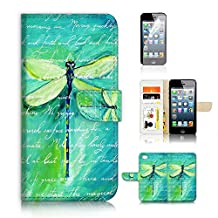 iPhone 5 5S / iPhone SE Flip Wallet Case Cover & Screen Protector Bundle! A4215 Dragonfly