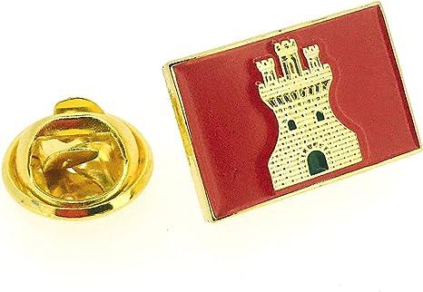 Gemelolandia   Pin de Solapa Bandera Antigua del Reino de Castilla   Pines Originales Para Regalar   Para las Camisas, la Ropa o para tu Mochila   ...