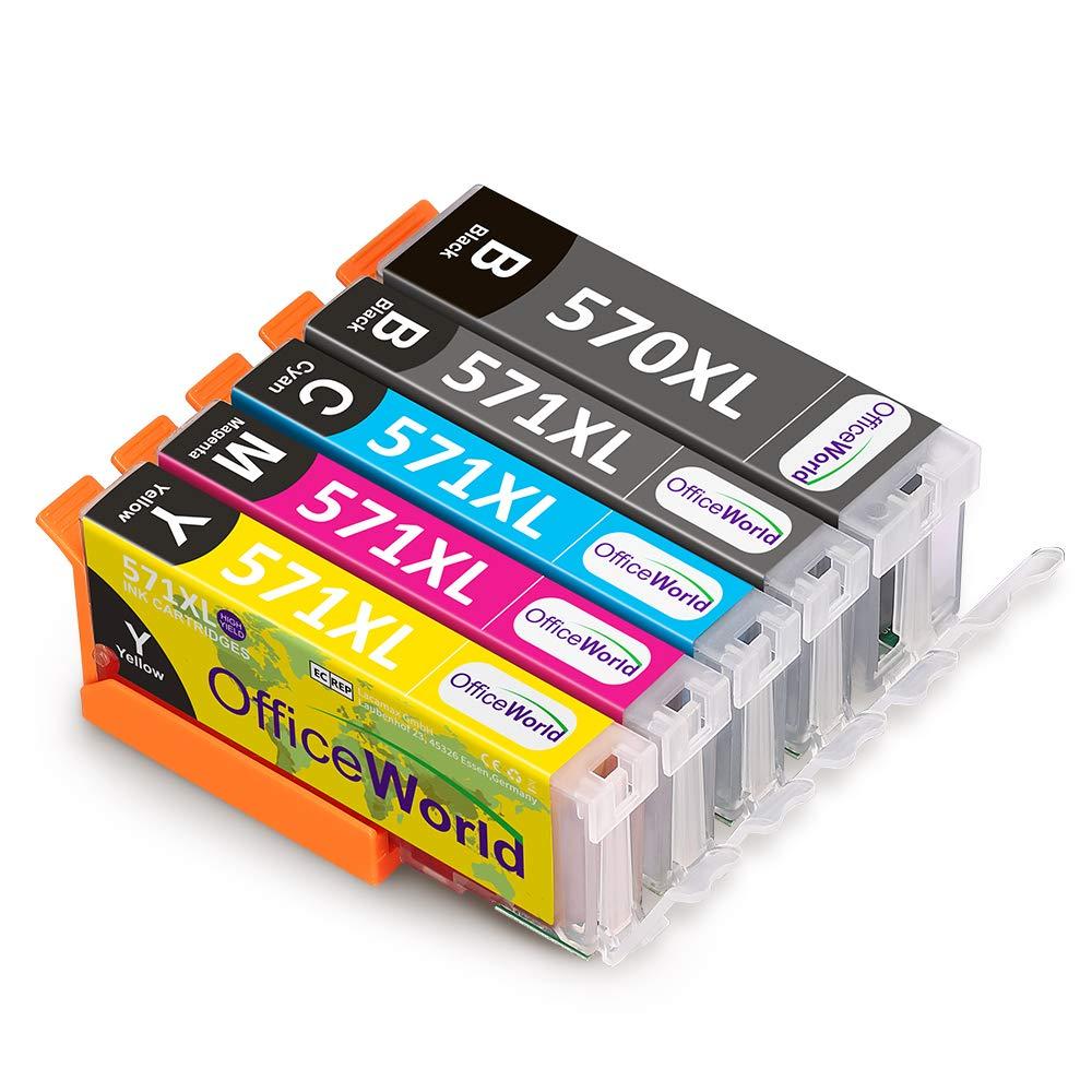OfficeWorld Ersatz f/ür Canon PGI-570 CLI-571 Druckerpatronen Hohe Kapazit/ät mit Canon PIXMA TS5050 MG5750 TS5055 TS6050 MG6850 MG5751 MG6851 TS5051 TS5053 TS6051