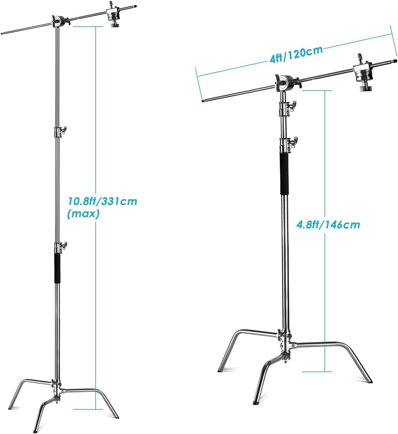 Neewer Pro 100 Edelstahl Hochleistungs C Ständer Mit Kamera