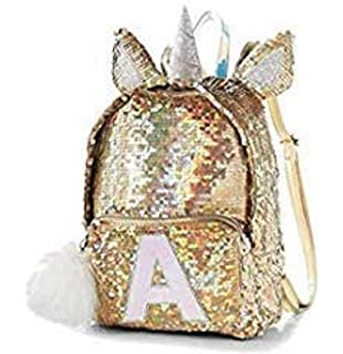 Justice Flip Sequin Mini Backpack Silver Gold Unicorn 9fd85063d80fa