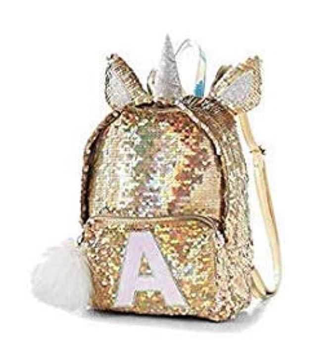 Amazon.com | Justice Flip Sequin Mini Backpack Silver Gold Unicorn (O) | Casual Daypacks