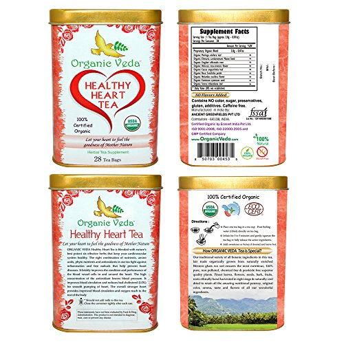 Organic Moringa HEALTHY HEART Tea (28 Potent Tea Bags). USDA Certified Organic. Rich in Antioxidants and Daily Needed Essential Nutrients. No Artificial Flavors or Preservatives. The Real Moringa Tea!