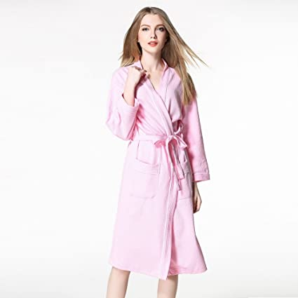 Amazon.com  ALJL Lovers Bathrobes Soft Cotton Bathrobe hot Spring ... e55cad792