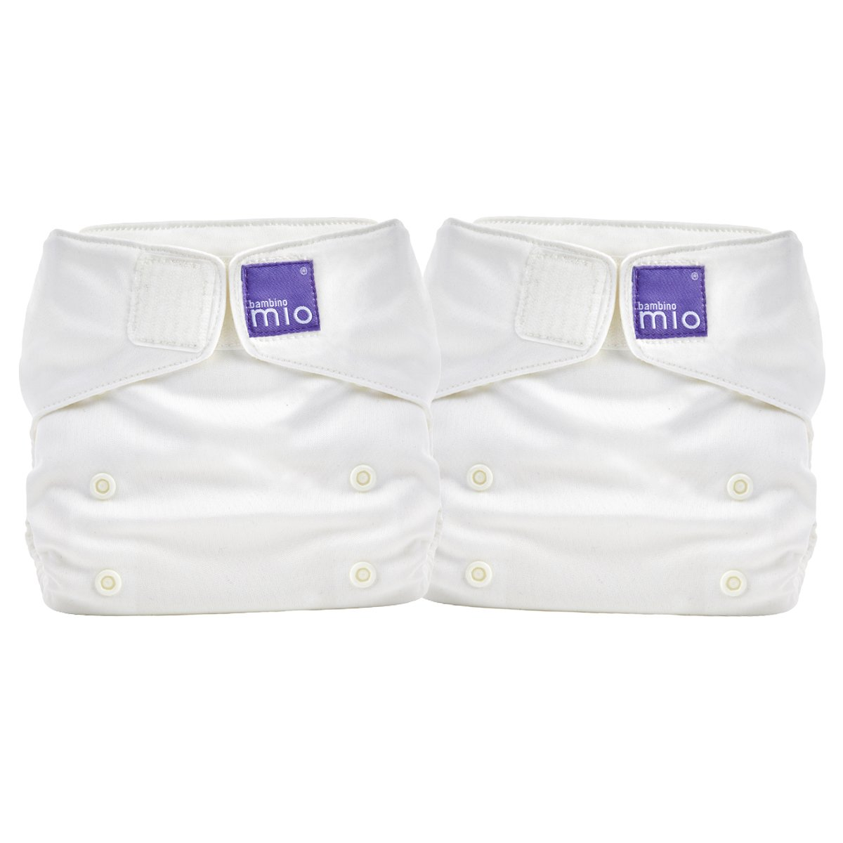 Bambino Mio miosolo all in one nappy, Marshmallow (pack of 2) 2SO A