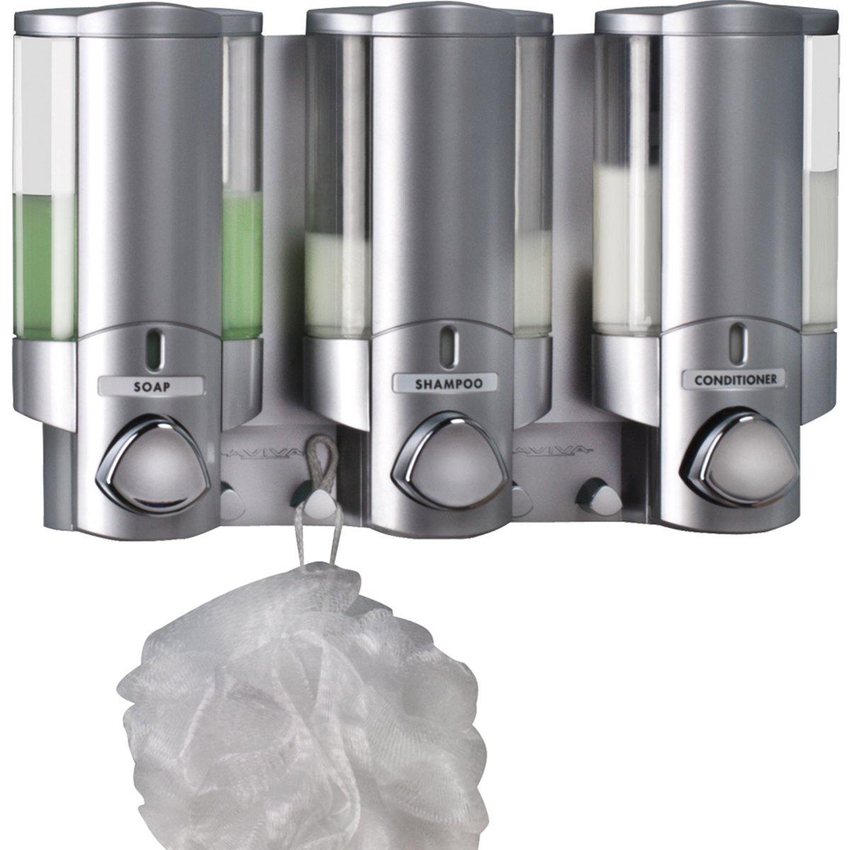 Merveilleux Amazon.com: Better Living Products 76335 1 AVIVA Three Chamber Dispenser,  Satin: Home U0026 Kitchen