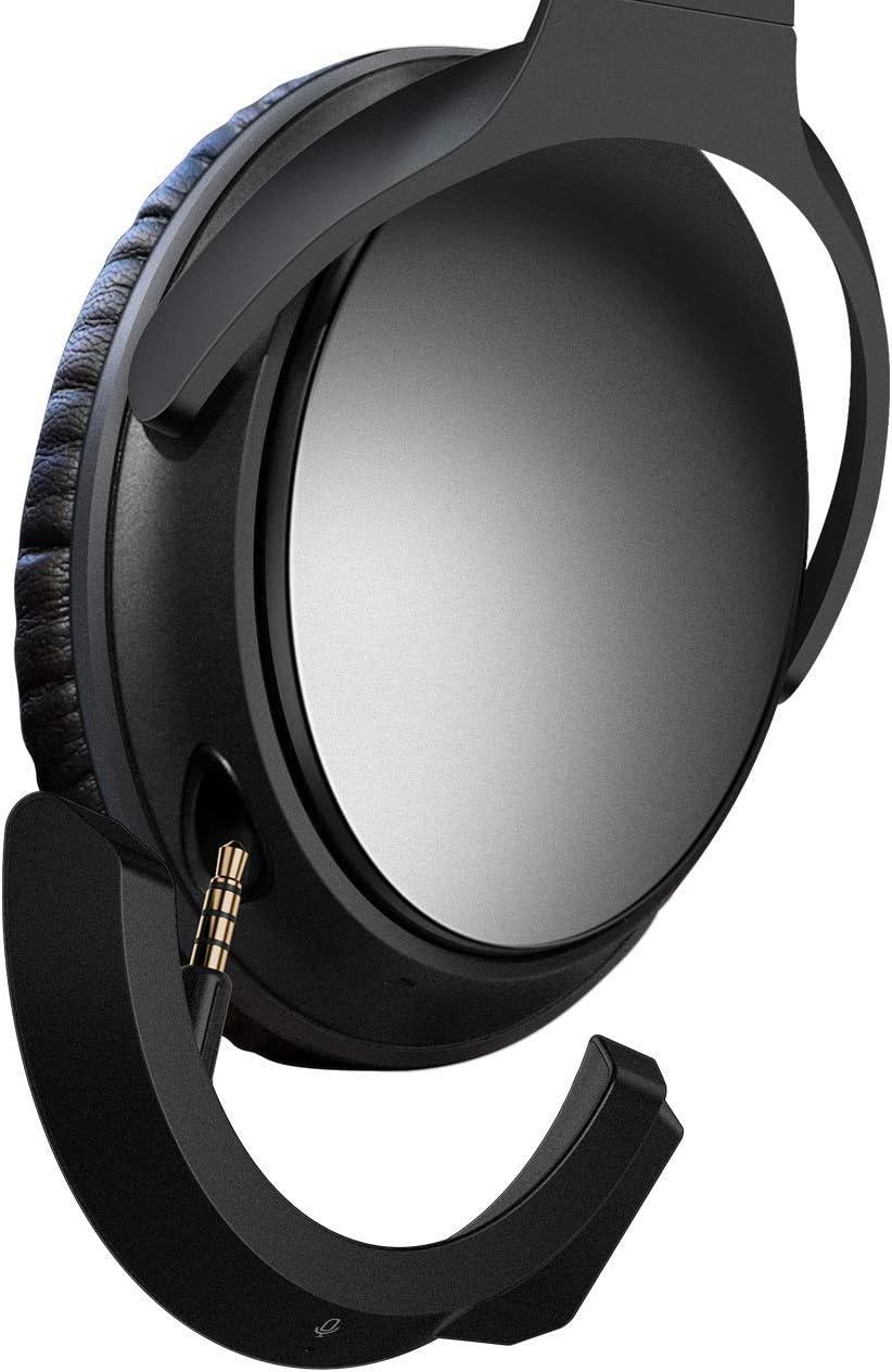 YOCOWOCO - Adaptador Bluetooth inalámbrico para Auriculares Bose QuietComfort QC 25 con Control de Volumen y micrófono Black+Mic
