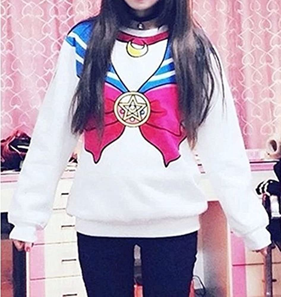 SSJ Harajuku Sweater Print Top Cute Cosplay Japan Anime