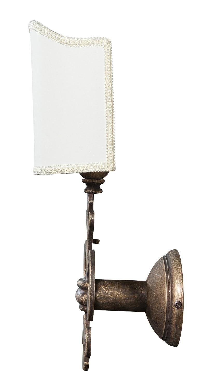 Biscottini Lampada Applique da Muro Style fiorentino in Fusione di Ottone Invecchiato L21XPR17XH38 cm Made in Italy