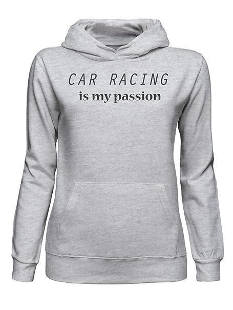 graphke Car Racing Is My Passion Sudadera con Capucha para Mujer XX-Large: Amazon.es: Ropa y accesorios