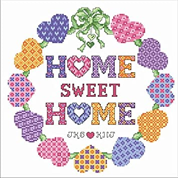 sweet home reloj de punto de cruz, Suzuki reloj, de Egipto juego de hilos de algodón, 14ct juego de punto de cruz de: Amazon.es: Hogar