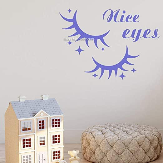 wukongsun Beautiful Eye Wall Decal Window Sticker Estilo de salón ...