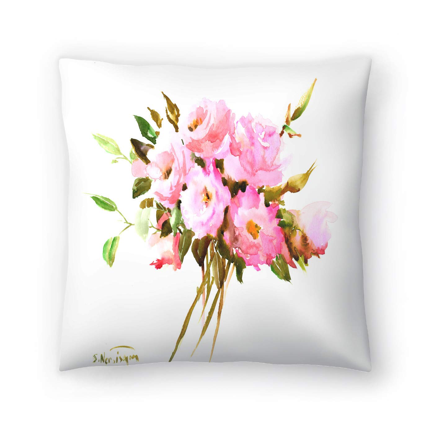Buy American Flat Pink Roses Pillow By Suren Nersisyan 16 X 16 Online At Low Prices In India Amazon In