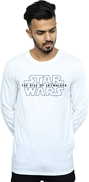 Star Wars Hombre The Rise of Skywalker Logo Camiseta De Manga Larga: Amazon.es: Ropa y accesorios