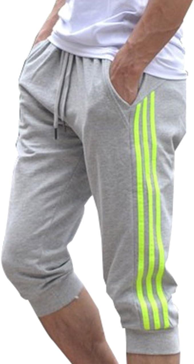 Pantalones Deportivos para Hombres Pantalones Cortos 3/4 ...
