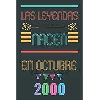 Las leyendas nacen en octubre 2000: Regalo de cumpleaños perfecto para niños y niñas de 20 años || 110 páginas (6 x 9…