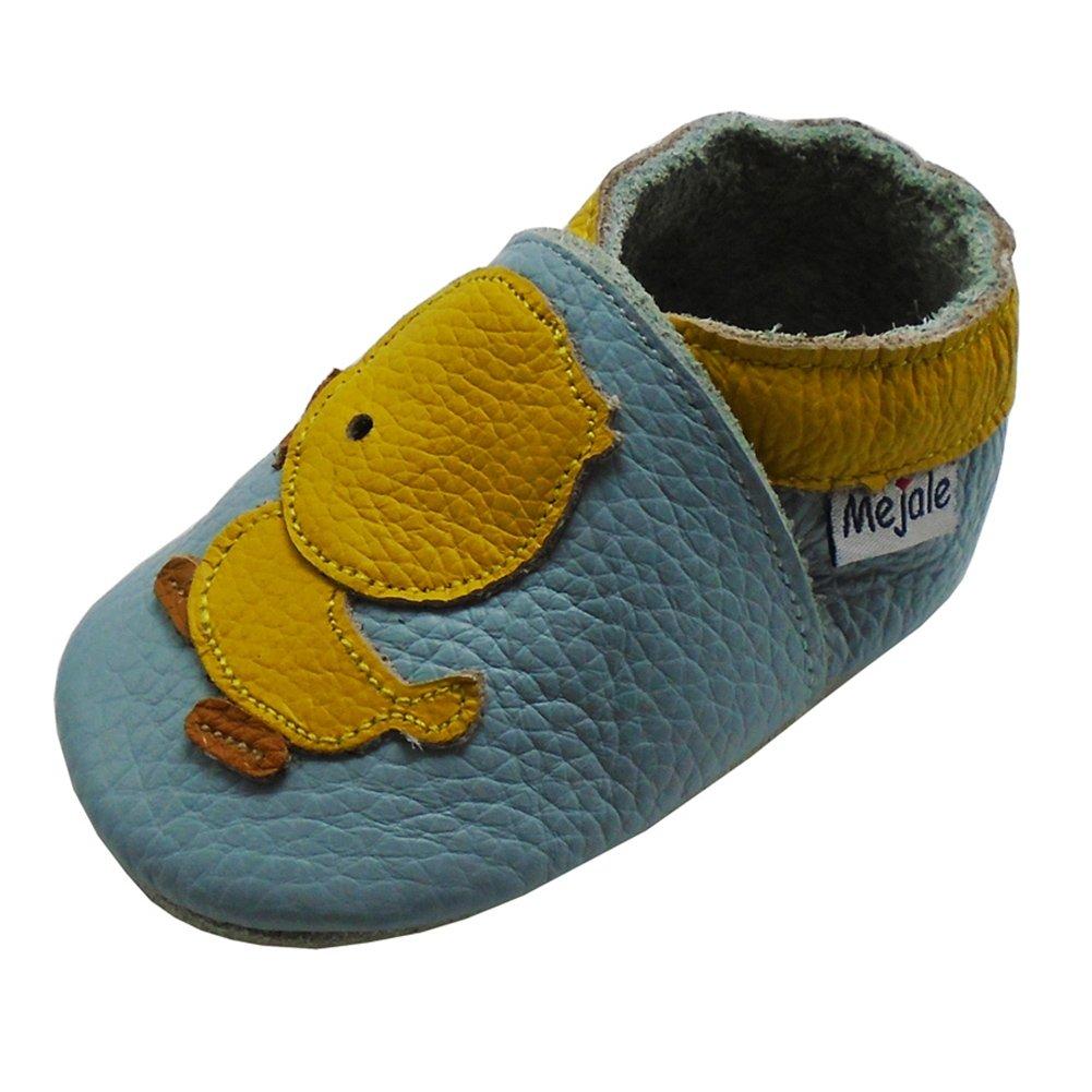 Mejale Chaussons Cuir Souple Chaussures Cuir Souple Chaussons Enfants Pantoufles Chaussures Premiers Pas Dessin animé Canard