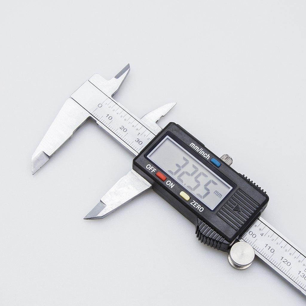 OROROW Precision 150mm// 6inch Digital Electronic Gauge Stainless Steel Vernier Caliper Micrometer