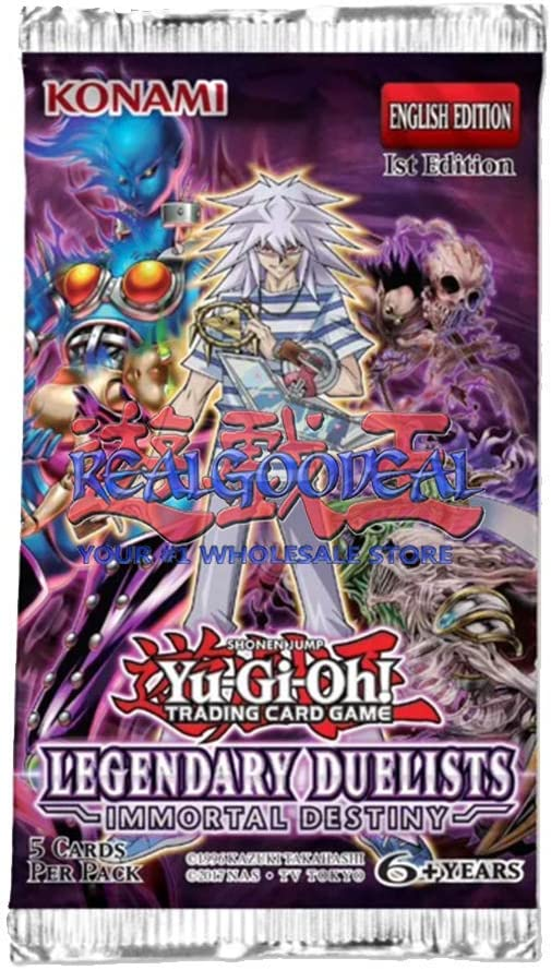 Immortal Destiny Legendary Duelists Yu-Gi-Oh Cards 5 Booster Packs Lot