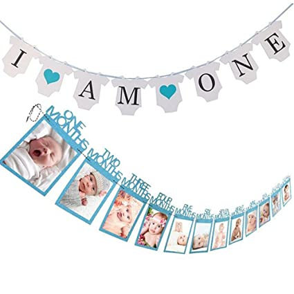 amazon com jettingbuy baby boy first birthday decoration set 1 12