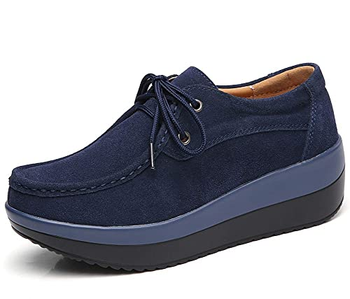 lovejin Mujer Mocasines Casual Loafers Plataforma de Pérdida de Peso Zapatos de Fitness Conveniente para Todas Las Estaciones Sneakers 35-42: Amazon.es: ...