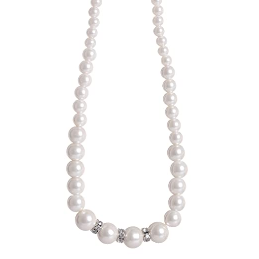 TOAOB 370pcs Multi Size Glass Pearl Beads Round White for Handmade