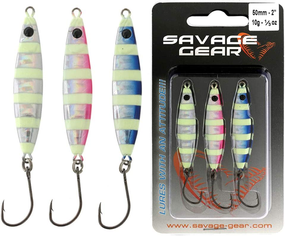 Meeresk/öder zum Spinnfischen Spinnk/öder zum Meeresangeln Blinker Pilker Savage Gear LRF Psycho Sprat Mini Casting Jig Kits
