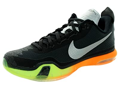 3c163a05ad7 Nike Men s Kobe X AS Black Multi Color Volt Basketball Shoe 8 Men