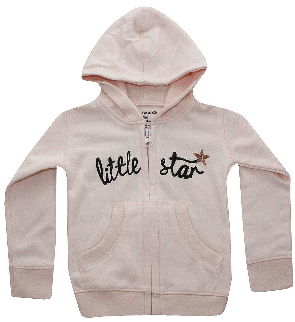 Silly Souls Inc Little Star Girl Kids Hooded Sweatshirt Pink